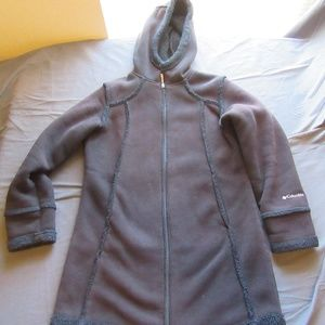 Womens Columbia Long Hooded Sherpa Jacket Sz M